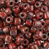 Czech Rola Bead 4.5mm Apx 20g Opaque Travertine On Red